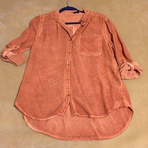 NWOT Velvet Heart Orange Button up